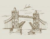 hand drawn Tower Bridge