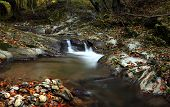 Mountain River In Late Autumn