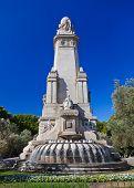 Cervantes Monument at Plaza Espana - Madrid Spain