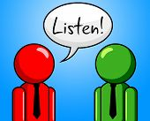 Listen Conversation Indicates Chit Chat And Chinwag