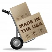 Made In Usa Represents The United States And America