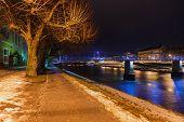 Salzburg Austria at night - architecturel background