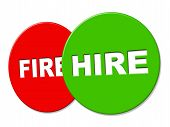 Hire Sign Indicates Employ Me And Apply