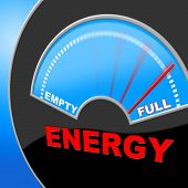 Energy Full Means Gauge Brimming And Meter