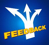 Feedback Arrows Shows Evaluate Reflection And Rating