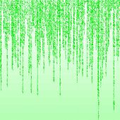 Green random binary figures