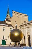 Monument in Salzburg Austria - travel background