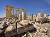 picture of akropolis  - Parthenon temple on the Acropolis of Athens,Greece