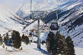 Mountain ski resort Obergurgl Austria - nature and sport background