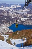 Mountains ski resort St. Gilgen Austria - nature and sport background