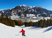Mountains ski resort Bad Hofgastein Austria - nature and architecture background