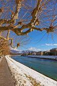 River in Salzburg Austria - travel background