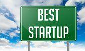 Best Startup on Green Highway Signpost.