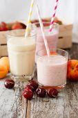 foto of fruit shake  - fruit smoothies - JPG