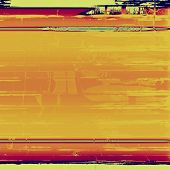Abstract background, old vignette border frame. With yellow, brown, orange, green patterns