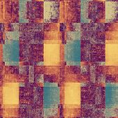 Old Texture or Background. With yellow, orange, purple, blue patterns