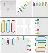 Set 9 Background White Paper Clips