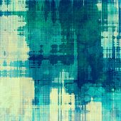 Cracks and stains on a vintage textured background. With blue, gray patterns