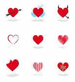 Set 9 Hearts Icons