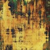 Grunge, vintage old background. With yellow, brown, green patterns