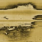 Old abstract texture with grunge stains. With yellow, brown, gray, black patterns