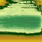 Old and weathered grunge texture. With yellow, green, gray patterns