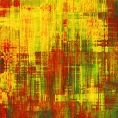 Grunge retro vintage texture, old background. With yellow, red, orange, green patterns