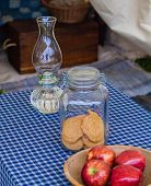 Oil Lamp with Food