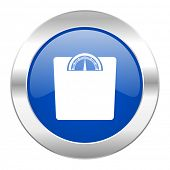 weight blue circle chrome web icon isolated