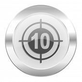 target chrome web icon isolated