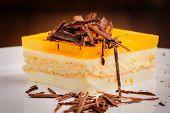 Layered cheesecake