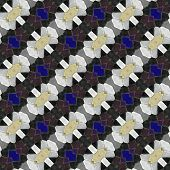 Abstract tileable white yellowish blue black mosaic pattern