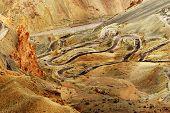 image of jammu kashmir  - Aerial view of Zigzag road  - JPG
