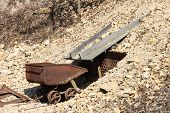 pic of trough  - Transport trough in a mine called Hund - JPG
