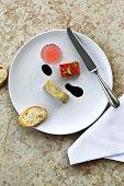 picture of vinegar  - Foie gras watermelon and juice balsamic vinegar - JPG