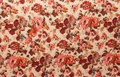 picture of knitwear  - new light beige knitwear with red vintage floral pattern - JPG