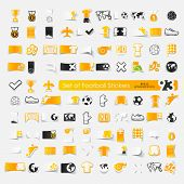 picture of offside  - It is a set of 93 football vector sticker icons - JPG