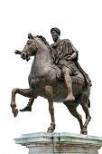 Ancient Roman Equestrian Statue Isolated