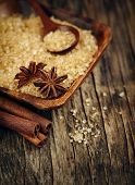 stock photo of christmas spices  - Baking Ingredients Cinnamon Sticks - JPG