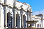 foto of amtrak  - Union Station building in the early summer morning - JPG