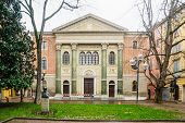 image of synagogue  - The old synagogue in Modena Emilia - JPG