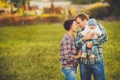 pic of threesome  - Young family - JPG