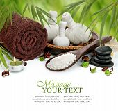 image of bamboo  - Spa Massage Border With Towel - JPG