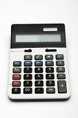 foto of calculator  - Two way powered desck calculator shooted on white - JPG