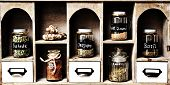 image of pimp  - A photo of a nationwide spice cabinet with  - JPG