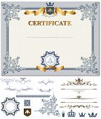 stock photo of coupon  - Certificate or coupon template with vintage border - JPG