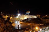 jerusalem old city at evening