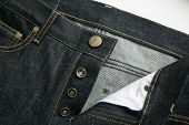 picture of denim jeans  - Selvedge denim Jeans close - JPG