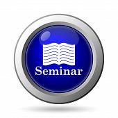 stock photo of seminars  - Seminar icon - JPG