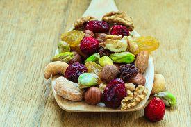 stock photo of mixed nut  - Healthy food organic nutrition - JPG